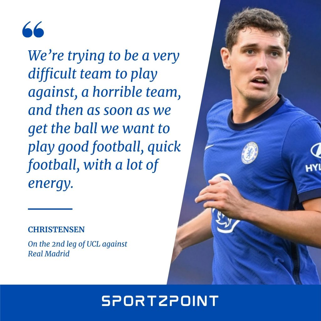 Andreas Christensen on Chelsea vs Real Madrid, 2nd leg UCL semi-final- SportzPoint