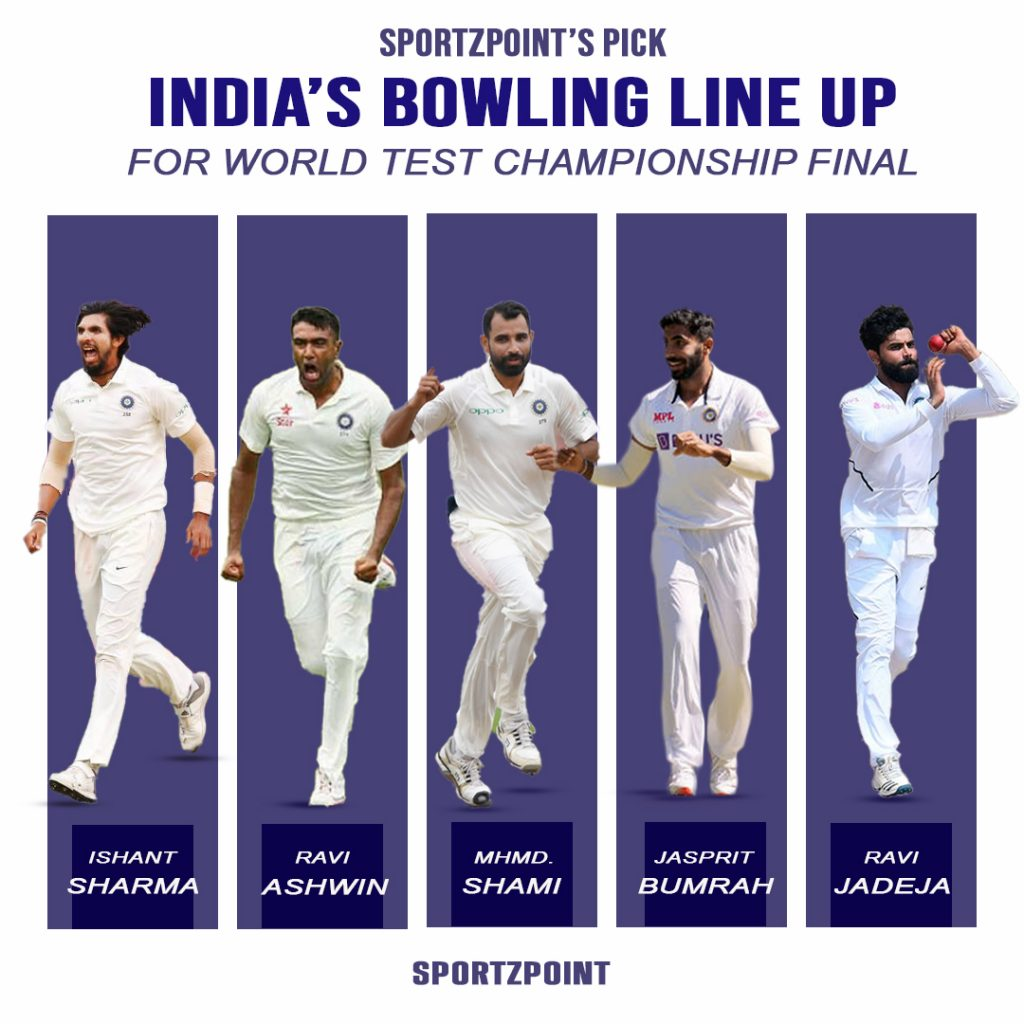 SportzPoint's pick   Indian's bowling for the World Test Championship Final   SportzPoint
