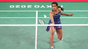 PV Sindhu enters Tokyo Olympics Round of 16 | SportzPoint